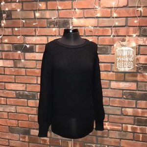 🖤🍁Charlotte Russe Fall Knit Sweater Tie Low Back
